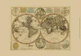 Dewerelt Caart Map Print