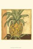Golden Pineapple II Print by Jennifer Goldberger