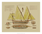Antique Ship Plan V Giclee Print