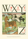 Noah&#39;s Alphabet VII Posters by Walter Crane