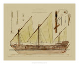 Antique Ship Plan VI Giclee Print