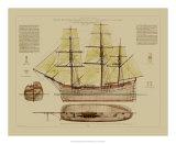Antique Ship Plan VII Prints