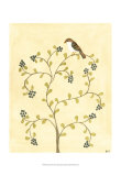 Berry Bird II Prints by Virginia A. Roper