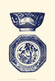 Manor Porcelain in Blue II Poster