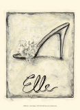 Elle: French Slipper Posters by Chariklia Zarris