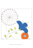 Playful Blooms I Kunstdruck von Erica J. Vess