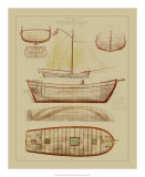 Antique Ship Plan III Giclee Print