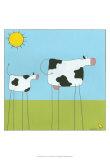 Stick-Leg Cow I Poster von Erica J. Vess