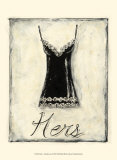 Hers: French Lace Prints by Chariklia Zarris