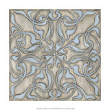 Silver Filigree V Print by Megan Meagher