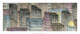 City by Night I Giclee Print by Charles Swinford