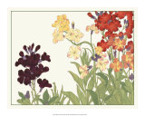 Japanese Flower Garden I Prints by Konan Tanigami