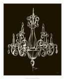 Elegant Chandelier I Print by Ethan Harper