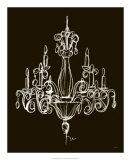 Elegant Chandelier I Print by Ethan Harper