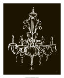 Elegant Chandelier II Giclee Print by Ethan Harper