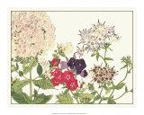 Japanese Flower Garden II Giclee Print by Konan Tanigami