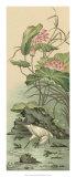Crane and Lotus Panel II Wydruk giclee autor Racinet