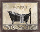 Bath Silhouette II Posters