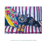 Sally on my Favorite Sofa Prints by Polly Jackson