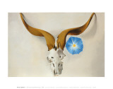 Ram's Head, Blue Morning Glory Posters af Georgia O'Keeffe