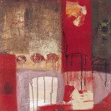 La Chaise et le Tabouret Prints by Jocelyne Bonzom