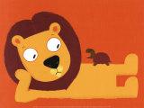 Le Lion et la Tortue Posters by Nathalie Choux