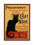 Wei&#223;e Katze|Chat Noir Kunstdruck von Th&#233;ophile Alexandre Steinlen
