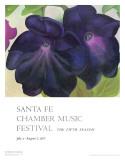 Schwarzviolette Petunien Poster von Georgia O'Keeffe