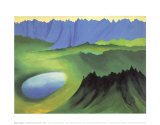 Mountains and Lake Prints by Georgia O&#39;Keeffe