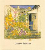 Grandma Battin's Garden Art by Gustave Baumann