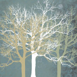 Tranquil Trees Print by Erin Clark