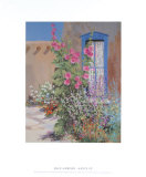 Hollyhocks and Lace Prints by Dale Amburn