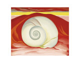 Red Hills with White Shell, c.1938 Art by Georgia O'Keeffe