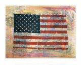 Doctor American Flag Print by E.w. Schisler