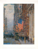 Flags on the Waldorf Print by Childe Hassam