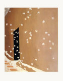 Black Door with Snow Print by Georgia O&#39;Keeffe