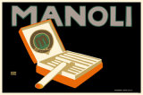 Manoli Cigarteetes Masterprint by Lucian Bernhard