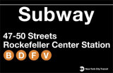 Subway Rockefeller Center Station Plaque en métal