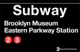 Subway Brooklyn Museum- Eastern Parkway Station Wall Sign