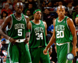 NBA Kevin Garnett , Paul Pierce, and Ray Allen Photo