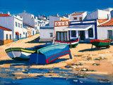 Barque Bleue a Alvor Posters par Jean-Claude Quilici