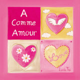 A Comme Amour Poster by Lynda Fays