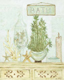 Spa Bath: Bamboo and Candle Affiches par Grace Pullen