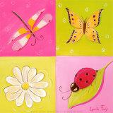 Le Jardin de Libellule II Posters by Lynda Fays
