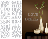 Silver Alphabet Wall Decal