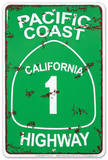 Pacific Coast Highway Cartel de metal