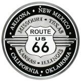 Route66 Plaque en métal