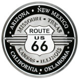 Route 66 Emaille bord