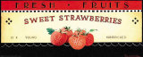 Fresh Fruits: Sweet Strawberries Poster von Ria van de Velden