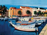 Barques de Pecheurs dans le Port d'Ajaccio Affiche par Jean-Claude Quilici